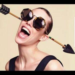 Karen Walker Moon Disco Tortoiseshell Sunglasses